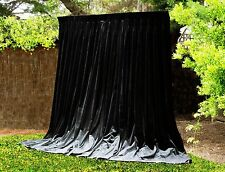HUGE BLACK INDUSTRIAL THICK B/OUT VELVET CURTAINS *AS NEW *THEATRE STUDIO X-L