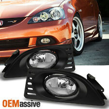 Fits 05-07 RSX Integra DC5 JDM Clear Bumper Driving Fog Lights w/Switch+Bulbs