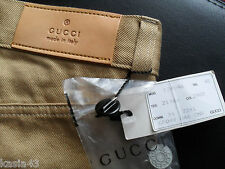 BNWT GUCCI MENS mustard color JEANS SIZE 48(IT)  MADE IN ITALY NOS