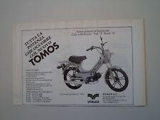 advertising Pubblicità 1987 TOMOS A3 BS 50