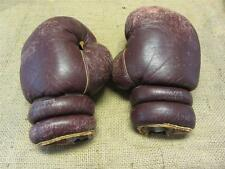 Vintage Wilson Leather Boxing Gloves   Antique Old Sports Ring Fight Childs 8286