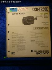 Sony Service Manual CCD TR50E Video Camera Recorder (#2857)