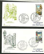 ITALIA BUSTA FDC CAPITOLIUM 1985 FOLCLORE TURCHI POTENZA AMALFI REGATA STORICA