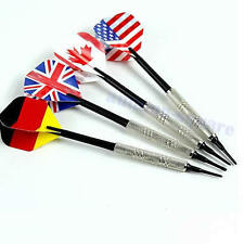 4Pcs Dart Brass Soft Tip Bar Darts With Nice National Flights Flags Throwing Toy