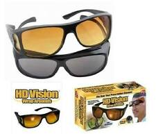 HD Vision Wrap Around Night/Day Vision Anti Glare Lens Sunglasses (pack of 2)