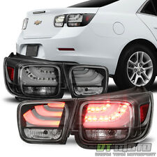 Black 2013 2014 2015 Chevy  Malibu LS LT LED Tail Lights Brake Lamps Left+Right