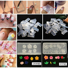 6pcs Fashion Durable 3D Acrylic Mold for Nail Art DIY Decoration Design Silicone