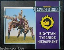 1995 Epic Tyranid Bio Titan Hierophant Games Workshop Warhammer Army 6mm 40K MIB