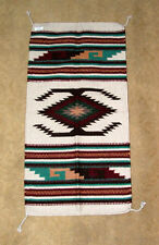 """Throw Rug Tapestry Southwest Western Hand Woven Wool 20x40"""" Replica #112W"""