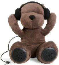 Aeropostale AERO DJ Teddy Bear Portable Speaker MP3  iPhone iPod i Pad 3.5mm