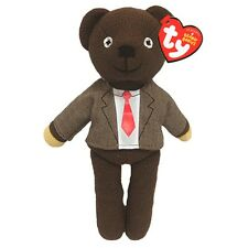 "Official Mr Bean Teddy Bear Beanie Shirt and Tie - TY Baby Teddie 8"" TV Soft Toy"