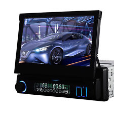 "7"" Single 1DIN Car Stereo CD DVD Player FM AM Stereo Radio Bluetooth iPod MP3 TV"