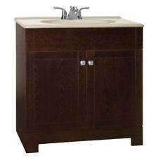 """American Classics 30"""" Renditions 2 Door Java Bathroom Vanity with Hazel Top"""