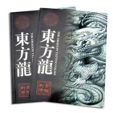 """A4 The Dragon Tattoo Flash &Outline Japanese Style manuscripts Sketch Book 11X8"""""""