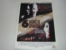 AFFICHE PROMO VIDEO CLUB--6 DEGRES DE SEPARATION--CHANNING/SMITH/SUTHERLAND
