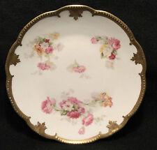 """c.1900s KLINGENBERG & DWENGER Porcelain LIMOGES Cabinet Plate - 8.75"""""""