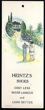 VTC Heintz's Shoes YOUNG GIRL Home SUNDIAL Advertising Trade Card TAG Book Mark