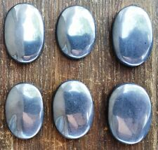 Hematite Oval Worry Stone ~ Palm stone for pocket or crystal grid  ~ SJ16