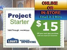 Five (5x) Lowe's $15 Off Next $50 Printable-Coupon -exp  3/05/17 Lowes  Fast