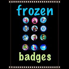 20 Frozen Girls And Boys Badges Birthday Party Bag Fillers. Children Parties