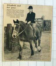 1955 Elizabeth Pullen Of South Harting Sussex Riding Nancy