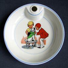 Ancienne Assiette Chaude Bouillie BEBE en Porcelaine Les Petites Canailles Chien
