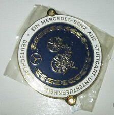 NOS Mercedes Benz Vintage 1970s Stuttgart German Grill Emblem Badge Plate (#1)