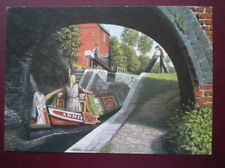 POSTCARD OXFORDSHIRE SUMMERTIME - CROPREDY LOCK OXFORD CANAL