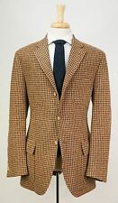 $1695 POLO RALPH LAUREN by CORNELIANI Wool Tweed Brown Houndstooth Jacket 42 L