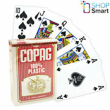 COPAG BRIDGE SIZE 100% PLASTIC PLAYING CARDS DECK RED REGULAR STANDARD INDEX NEW