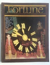 FORTUNE MAGAZINE JANUARY 1938 - GREAT COVER & ADS