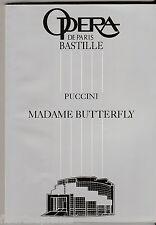Programme Opéra Bastille Madame Butterfly  Giacomo Puccini 1993