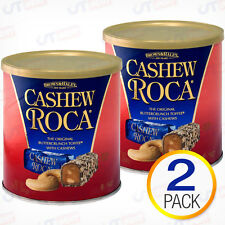 2 X Cashew Roca Buttercrunch Toffee Chocolate Candy Brown and Haley Total 20 oz
