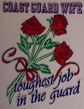 Window Bumper Sticker Military Coast Guard Wife red rose NEW Decal