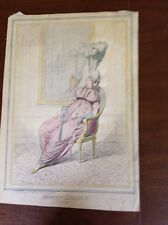 "Gillray Hand Colored ""MODERN ELEGANCE""  Humphreys  First Published 1795"