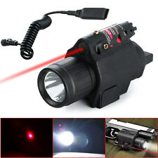 Tactical 2in1 Combo CREE Q5 LED Flashlight+Red Laser Sight For Pistol 2 Switch