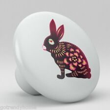 Pink Rabbit Ceramic Knobs Pull Kitchen Bathroom Closet Drawer Cabinet 174 Vanity