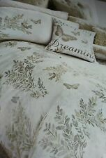 Next bedding - GOLD BUTTERFLY COTTON SATEEN PRINT double duvet cover only RRP£45