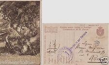 # MILITARI WWI: 1918 FRANCHIGIA 3a ARMATA dis. Mazzoni CON BOLLO VIOLETTO..(3)