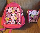 girls gymboree flower floral backpack lunch bag combo set nwt