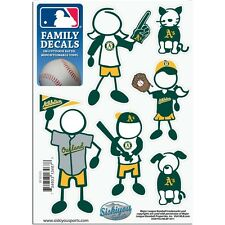 Oakland A's Family Decals 6 Pack (NEW) Auto Car Stickers Emblems MLB Athletics