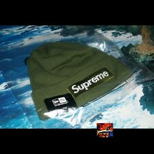 Supreme New Era Box Logo Beanie Olive Green PCL hoodie Leopard Heat New