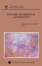 Astrophysics and Space Science Library: History of Oriental Astronomy 275...