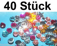 40x PIN CLIPS STICKER CLOGS CROCS STRAß Glitzerpin ANSTECKER Deko