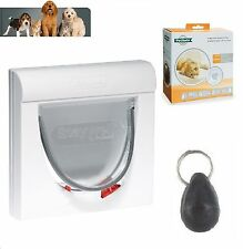 PetSafe Staywell 32 White Magnetic Cat Flap Door 932 4 Way Locking Key Included