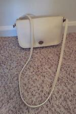 """COACH New York City Bag LOVELY Creme Off-White Leather Crossbody USA 9.5"""" x 5"""""""