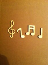 Lasercut Wooden Musical Note Shapes, Crafts