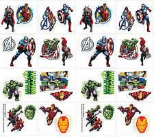 32 AVENGERS MARVEL HERO Temporary Tattoos Birthday Party Favors Teacher Supplies
