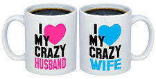 I Love my Crazy Husband - Wife Valentines Gifts for Couples Coffee Mugs MCPL109
