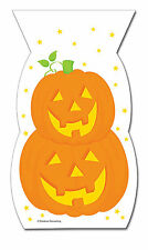 20 x Halloween Pumpkins Party Loot Bags Cello treat favour bags FREE P&P